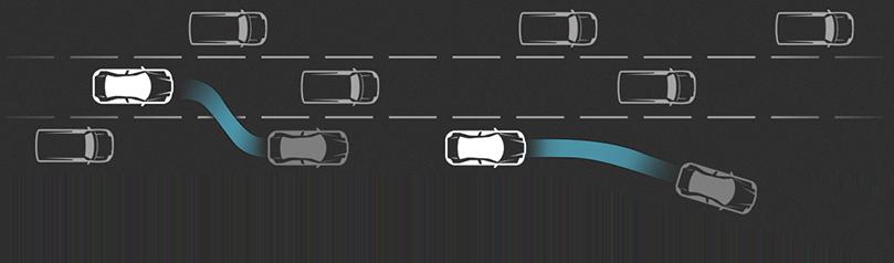 Tesla S - Samoczynna zmiana pasa