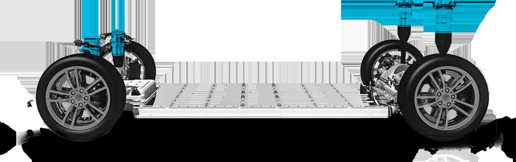 Tesla S - zawieszenie w wersji smart